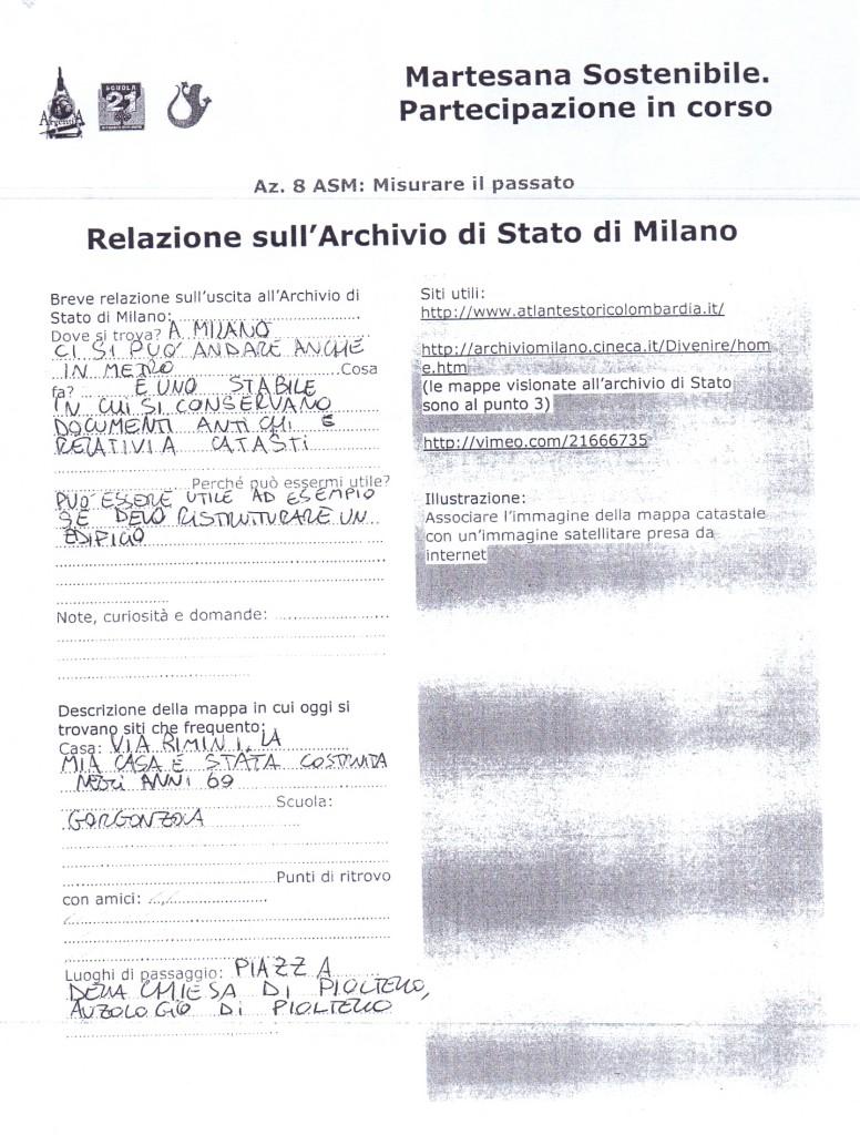 Relazione sull'Archivio di Stato di Milano