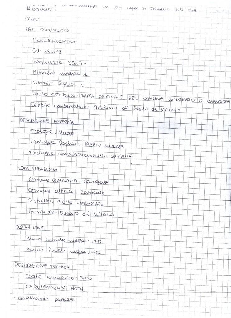 Relazione sull'archivio di Stato di Milano - Di Bella Matteo