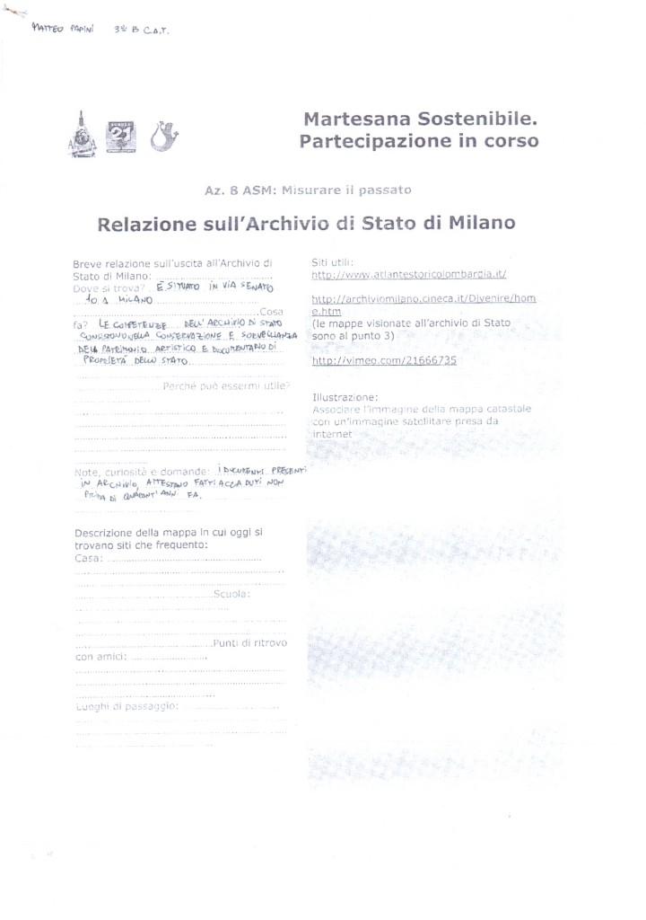 Relazione sull'Archivio di Stato di Milano - Papini Matteo